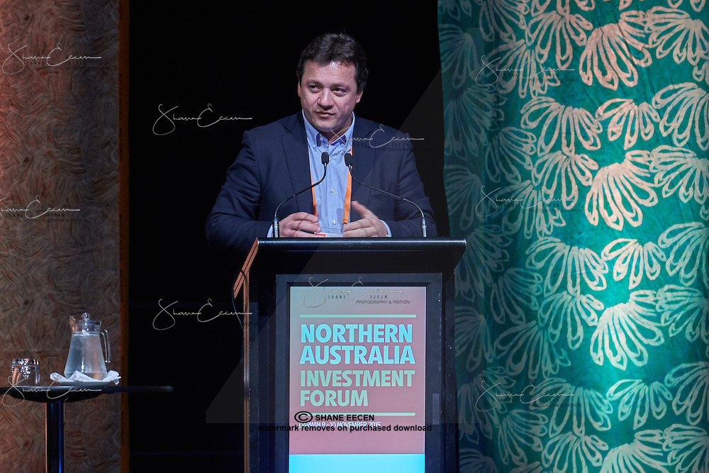 Keynote Speaker Mr Wesley Batista President JBS S.A Brazil. Northern Australia Investment Forum. Darwin 2015. Photo Shane Eecen. Copyright Austrade 2015