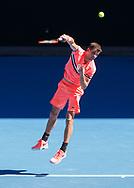 GRIGOR DIMITROV (BUL), von oben<br /> <br /> Tennis - Australian Open 2018 - Grand Slam / ATP / WTA -  Melbourne  Park - Melbourne - Victoria - Australia  - 19 January 2018.