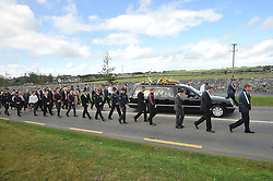 The Funeral cortege of Darragh Doherty making its way to the graveyard in Kilmaine.<br /> Pic Conor McKeown