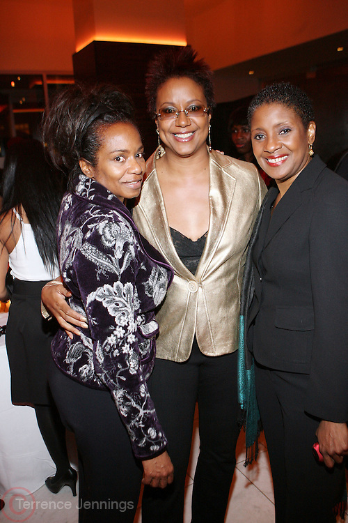 l to r: Sandra Parks, Harriett Cole and Yvonne Lucas at The National CARES Mentoring Movement Gala held at ESPACE on December 2, 2008 in NYC..National CARES is a mentor-recruitment movement that works ti fill the pipeline of youth-supporting organizations throughout the country with mentors. Its mission is to save a generation by outting a caring adult in the life of every at-risk child and those who have already fallen in peril.