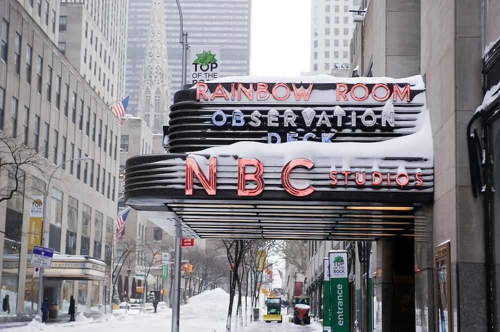 NBC Studios on the morning after the blizzard.The morning after the first blizzard in New York City at the end of 2010.Am morgen nach dem erste Scheesturm des Winters 2010/2011