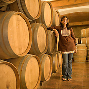 Karishma Grover, third generation to the Grover family wine making family, at the new wine cellar of the Grover Vineyards and Winery at Nandi Hills, Karnataka, India