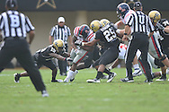 Ole Miss' Brandon Bolden (34) runs in Nashville, Tenn. on Saturday, September 17, 2011. Vanderbilt won 30-7..