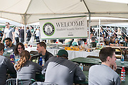 Bobcat fans and alumni from across the country return to Athens and prepare for the 2016 Homecoming football matchup against Bowling Green with food, games and fun at Tailgreat Park on Saturday, October 8, 2016.