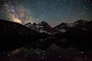 Milky way over the Sawtooth Mountains, Toxaway Lake, Sawtooth Wilderness, Idaho
