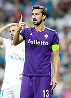 ACF Fiorentina's Davide Astori during Santiago Bernabeu Trophy. August 23,2017. (ALTERPHOTOS/Acero)