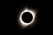 Totality of the 2017 solar eclipse at Carhenge on Monday, Aug. 21, 2017, in Alliance, Nebraska.<br /> <br /> MATT DIXON/THE WORLD-HERALD