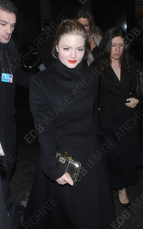 12.FEBRUARY.2012. LONDON<br /> <br /> HOLLIDAY GRAINGER AT THE WEINSTEIN COMPANY AND ENTERTAINMENT FILM DISTRIBUTION POST BAFTA EVENT AT THE LE BARON, EMBASSY CLUB, LONDON<br /> <br /> BYLINE: EDBIMAGEARCHIVE.COM<br /> <br /> *THIS IMAGE IS STRICTLY FOR UK NEWSPAPERS AND MAGAZINES ONLY*<br /> *FOR WORLD WIDE SALES AND WEB USE PLEASE CONTACT EDBIMAGEARCHIVE - 0208 954 5968*