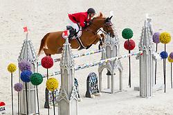 Andreas Schou, (DEN), Lenard Der Kleine - Team & Individual Competition Jumping Speed - Alltech FEI World Equestrian Games™ 2014 - Normandy, France.<br /> © Hippo Foto Team - Leanjo De Koster<br /> 02-09-14