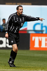 March 26, 2011; Oakland, CA, USA;  FIFA referee Paul Ward during the first half between Mexico and Paraguay at Oakland-Alameda County Coliseum. Mexico defeated Paraguay 3-1.