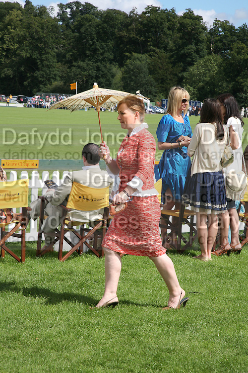 Susan Wade Weeks, The Veuve Clicquot Gold Cup 2007. Cowdray Park, Midhurst. 22 July 2007.  -DO NOT ARCHIVE-© Copyright Photograph by Dafydd Jones. 248 Clapham Rd. London SW9 0PZ. Tel 0207 820 0771. www.dafjones.com.