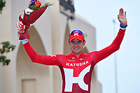 Podium, KRISTOFF Alexander (NOR) Katusha, winner, during the 7th Tour of Oman 2016, Stage 3, Al Sawadi Beach - Naseem Park (176,5Km), on February 18, 2016 - Photo Tim de Waele / DPPI