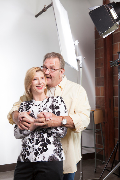 28 June 2012- Dutch Haling & Stacy Maddux, actors are photographed at Minorwhite Studios for Omaha Magazine.