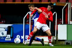 Sam Heal of Bristol Rovers challenges Rhys Wells of Swindon Town - Mandatory by-line: Robbie Stephenson/JMP - 29/10/2019 - FOOTBALL - County Ground - Swindon, England - Swindon Town v Bristol Rovers - FA Youth Cup Round One