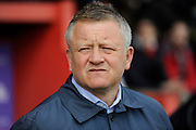 Northampton Town manager Chris Wilder before the Sky Bet League 2 match between Exeter City and Northampton Town at St James' Park, Exeter, England on 16 April 2016. Photo by Graham Hunt.