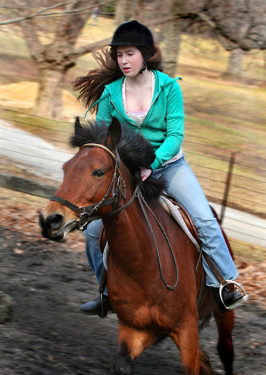 Experienced rider, she likes to ride hard and fast. Last in a mini series of four.