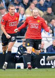 NEMANJA VIDIC & WAYNE ROONEY.MANCHESTER CITY V MANCHESTER UNITED.MANCHESTER CITY V MANCHESTER UNITED.CITY OF MANCHESTER MANCHESTER, ENGLAND.30 November 2008.DIW89335..  .WARNING! This Photograph May Only Be Used For Newspaper And/Or Magazine Editorial Purposes..May Not Be Used For, Internet/Online Usage Nor For Publications Involving 1 player, 1 Club Or 1 Competition,.Without Written Authorisation From Football DataCo Ltd..For Any Queries, Please Contact Football DataCo Ltd on +44 (0) 207 864 9121