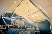 Humber Street, Kingston Upon Hull, East Yorkshire, United Kingdom, 05 August, 2017. Pictured: The Residents Association tent with DJ Beat Robinson, Humber Street SESH
