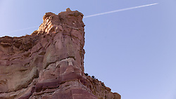 Butte at the New Mexico and Arizona State Line along Historic US Route 66.
