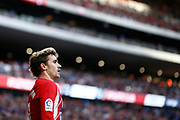 Atletico Madrid's French forward Antoine Griezmann reacts during the Spanish championship Liga football match between Atletico Madrid and Athletic Bilbao on february 18, 2018 at the Metropolitano stadium in Madrid, Spain - Photo Benjamin Cremel / ProSportsImages / DPPI