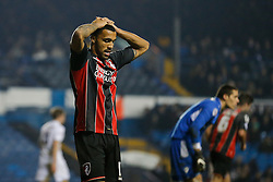 Callum Wilson of Bournemouth looks dejected after missing from a good a goalscoring opportunity - Photo mandatory by-line: Rogan Thomson/JMP - 07966 386802 - 20/01/2015 - SPORT - FOOTBALL - Leeds, England - Elland Road Stadium - Leeds United v Bournemouth - Sky Bet Championship.