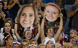 September 19, 2017 - Cincinnati, OH, USA - Cincinnati, OH - Tuesday September 19, 2017: Morgan Brian, Rose Lavelle during an International friendly match between the women's National teams of the United States (USA) and New Zealand (NZL) at Nippert Stadium. (Credit Image: © Brad Smith/ISIPhotos via ZUMA Wire)