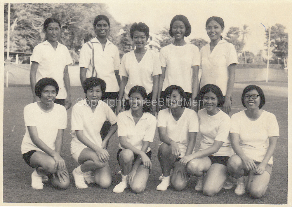 Victor Melder Collection. The Singapore Netball team in Sri Lanka (Ceylon) in 1970