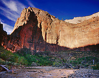 Zion Canyon and the Virgin River, Zion National Park Utah USA