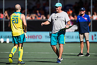 BREDA -  Assistent coach Anthony Potter (Aus) met Matthew Swann (Aus) , Australia-India (1-1), finale Rabobank Champions Trophy 2018. Australia wint shoot outs.  COPYRIGHT  KOEN SUYK