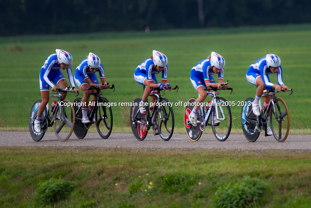 Boels Rental Ladies Tour Coevorden TTT 13th Italian National Team Susanna Zorzi, Arianne Fidanza, Michaela Maltese, Francesca Pattaro, Maria Giulia Confalonieri, Ilaria Bonomi