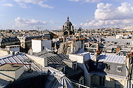 France. Paris. elevated view. Saint Augustin church , roofs, terrace. from the hotel Hyatt Madeleine