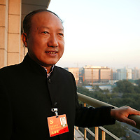 BEIJING, OCT.-20:  Chen Feng, CEO der HNA Group ( Hainan Airlines) im Hotel der Parteidelegierten in Peking, China..Chen nimmt am 17. National Kongress der Kommunistischen Partei Chinas teil.
