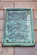 Plaque at King Chapel (first church in Boston) on the Freedom Trail, Boston, Massachusetts