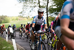 Marlen Reusser (SUI) of UCI WCC Team climbs the first categorised climb of Stage 2 of 2019 Festival Elsy Jacobs, a 111.1 km road race starting and finishing in Garnich, Luxembourg on May 12, 2019. Photo by Balint Hamvas/velofocus.com