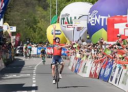 20.04.2018, Innsbruck, AUT, Tour of the Alps, Österreich, 5. Etappe, von Rattenberg nach Innsbruck (164,2 km), im Bild Mark Padun (UKR, Bahrain Merida Pro Cycling Team) Etappensieger // stage winner Mark Padun of Ukrain Bahrain Merida Pro Cycling Team during 5th stage from Rattenberg to Innsbruck of 2018 Tour of the Alps in Innsbruck, Austria on 2018/04/20. Innsbruck, Austria on 2018/04/20. EXPA Pictures © 2018, PhotoCredit: EXPA/ Reinhard Eisenbauer