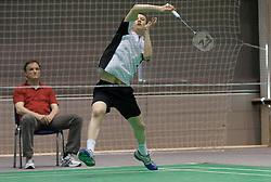 Matthias Almer of Austria during match at Slovenia Open Badminton tournament 2012, on May 10, 2012, in Medvode, Slovenia. (Photo by Grega Valancic / Sportida.com)