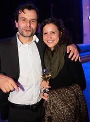 Uros Zagar and Andreja Okorn at Slovenian Sports personality of the year 2012 annual awards presented on the base of Slovenian sports reporters, on December 20, 2011 in Cankarjev dom, Ljubljana, Slovenia. (Photo By Vid Ponikvar / Sportida.com)
