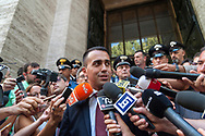 ROME, ITALY - SEPTEMBER 6: The Minister of Economic Development Luigi Di Maio meets the press at the Ministry of Economic Development, after the signing of the agreement between the Indian industrial giant Arcelor Mittal  and the unions for Ilva Taranto, the largest steel plant in Europe on September 6, 2018 in Rome, Italy.
