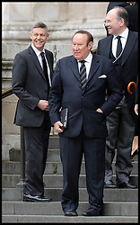 Matthew Paris and Andrew Neil attend Lady Thatcher's funeral at St Paul's Cathedral following her death last week, London, UK, Wednesday 17 April, 2013, Photo by: Andrew Parsons / i-Images