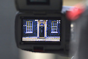 © Licensed to London News Pictures. 26/03/2013. Westminster, UK Number 10 door through a tv camera. Ministers inDowning Street, London, for Cabinet today, 26th March 2013. Photo credit : Stephen Simpson/LNP