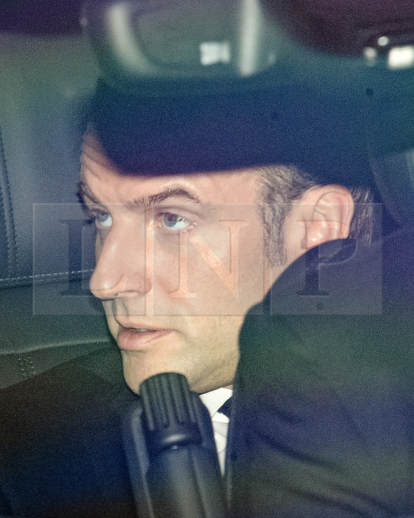 © Licensed to London News Pictures. 03/12/2019. London, UK. French President EMMANUEL MACRON arrives at Winfield House in Regents Park, London, where President Donald Trump is staying during the NATO leaders summit. Worlds leaders are due to attend a series of events over a two day NATO summit which will mark the 70th anniversary of the alliance of nations. Photo credit: Ben Cawthra/LNP