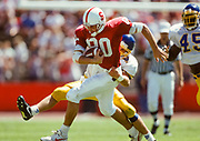 COLLEGE FOOTBALL:  Stanford vs San Jose State on September 11, 1993 at Stanford Stadium in Palo Alto, California.  Justin Armour #80.  Photograph by David Madison ( www.davidmadison.com ).