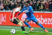 ROTTERDAM - 03-03-2016, Feyenoord - AZ, stadion de Kuip, 3-1, Feyenoord speler Jens Toornstra, AZ speler Ridgeciano Haps