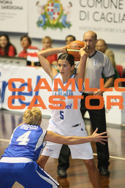 DESCRIZIONE : Cagliari Qualificazione Eurobasket Women 2009 Italia Finladia <br /> GIOCATORE : Maria Franchini<br /> SQUADRA : Nazionale Italia Donne<br /> EVENTO : Raduno Collegiale Nazionale Femminile<br /> GARA : Italia Finlandia Italy Finland <br /> DATA : 16/08/2008 <br /> CATEGORIA : Tiro <br /> SPORT : Pallacanestro <br /> AUTORE : Agenzia Ciamillo-Castoria/C. De Massis<br /> Galleria : Fip Nazionali 2008 <br /> Fotonotizia : Cagliari Qualificazione Eurobasket Women 2009 Italia Finladia <br /> Predefinita :