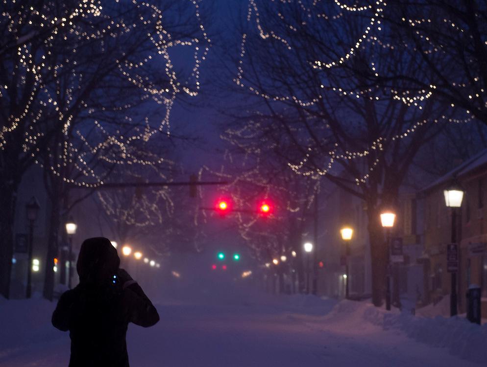 Snow storm in January 2016 as seen in Alexandria, Va.  Photo © Molly Riley