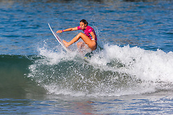Zoe McDougall (HAW) advances to the Quarterfinals of the 2918 Junior Women's VANS US Open of Surfing after winning Heat 4 of Round 1 at Huntington Beach, CA, USA.