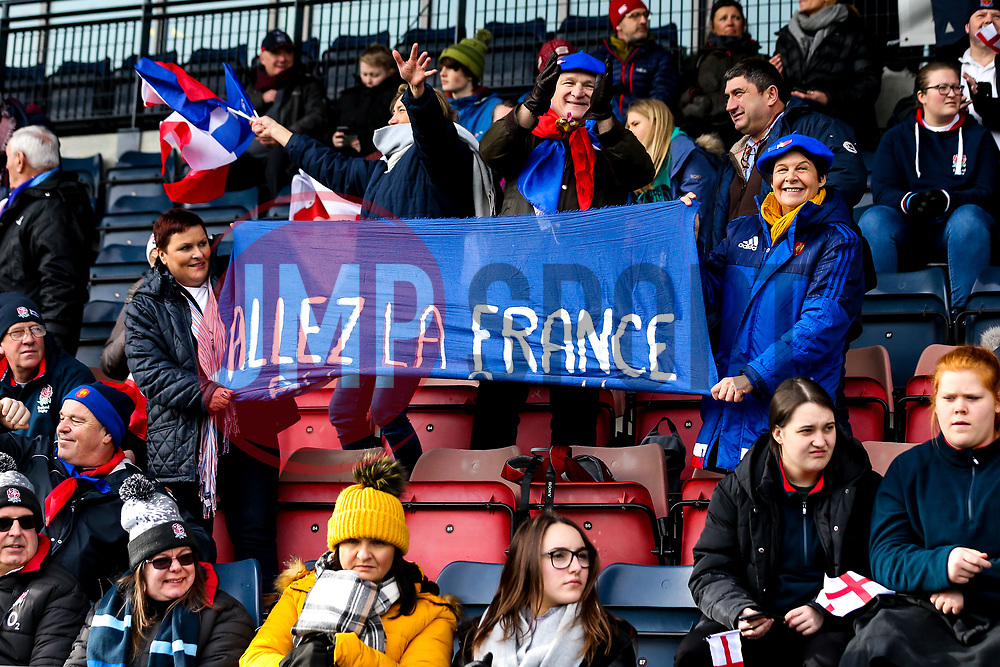 France Women fans - Mandatory by-line: Robbie Stephenson/JMP - 10/02/2019 - RUGBY - Castle Park - Doncaster, England - England Women v France Women - Women's Six Nations