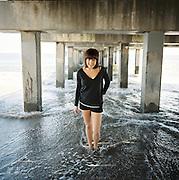 BROOKLYN - MAY 11 2011: Norwegian, singer songwriter Elise Vatsvaag at Coney Island in Brooklyn, New York.