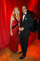COUNT & COUNTESS ALLESANDRO GUERRINI-MARALDI at a dinner held at the Natural History Museum to celebrate the re-opening of their store at 175-177 New Bond Street, London on 17th October 2007.<br />