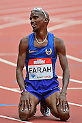Mo Farah (GBR) in action during the Muller Anniversary Games at the Stadium, Queen Elizabeth Olympic Park, London, United Kingdom on 23rd July 2016. Photo by Jon Bromley.